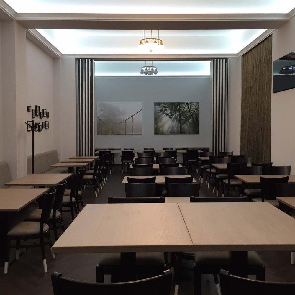Corporate restaurant reconstruction | OTP – Nádor utca, Budapest