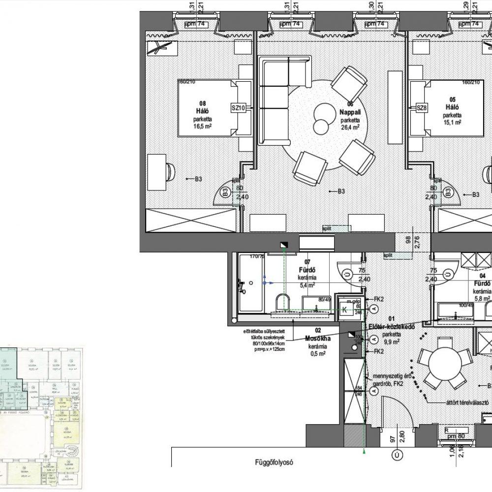 H21-3em_33 lakás berendezési terv
