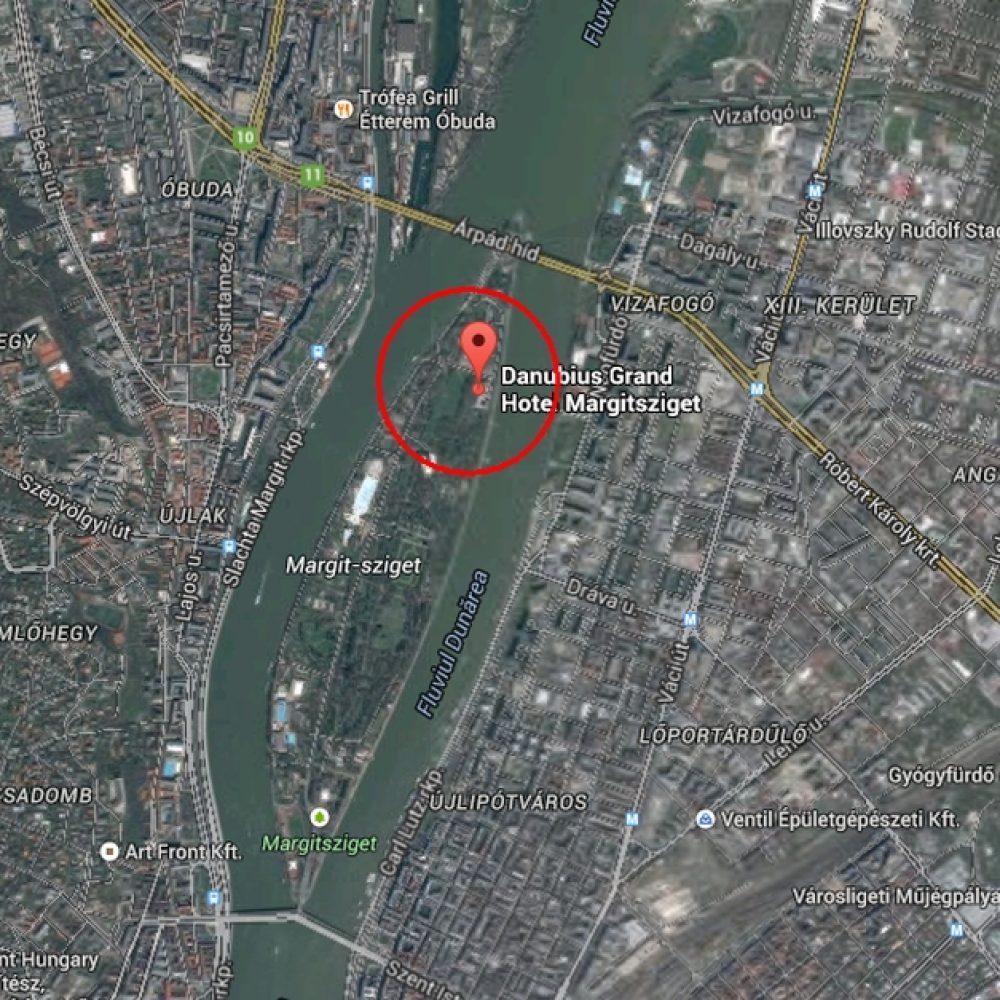 HOTEL DANUBIUS MARGITSZIGET MAP
