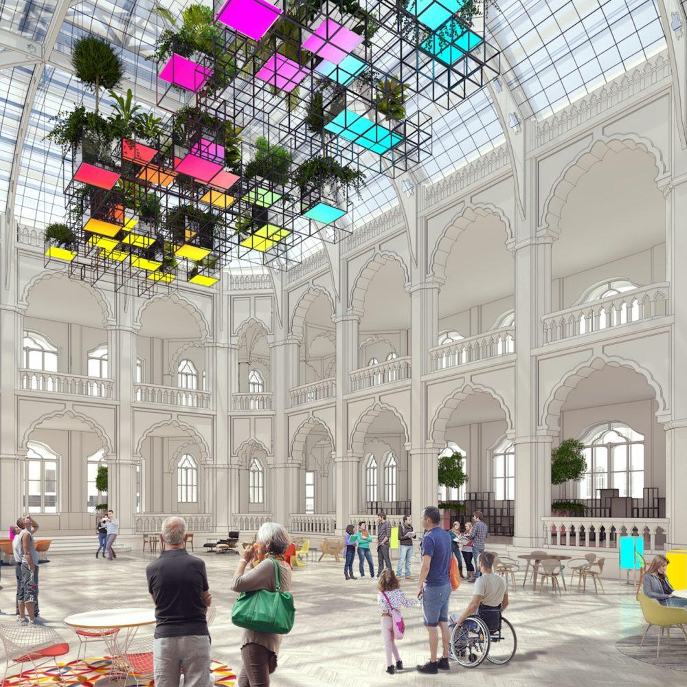 Az Iparművészeti Múzeum belsőépítészete
