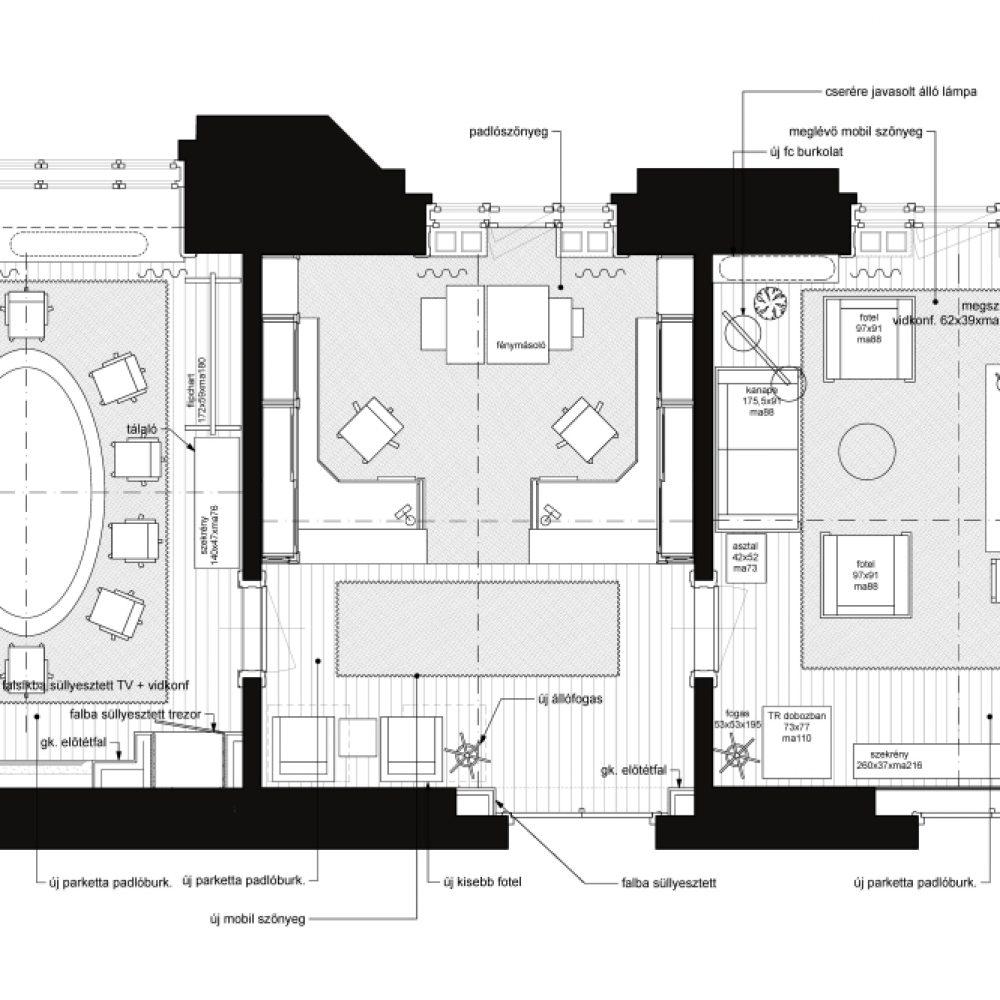 OTP 113-115 offices-BE01 berendezési alaprajz 120729