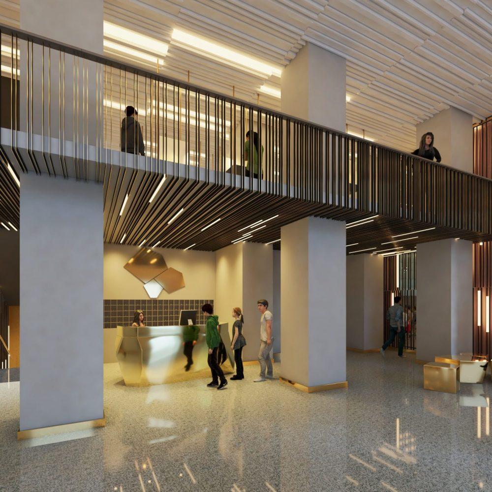 Москва kávézó és középület lobby tér