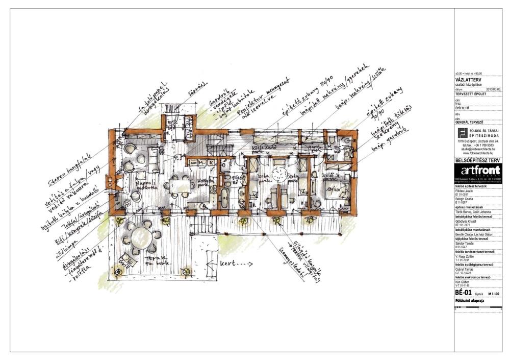 Belsőépítész mintaterv – a Magyar Építész Kamara felkérésére