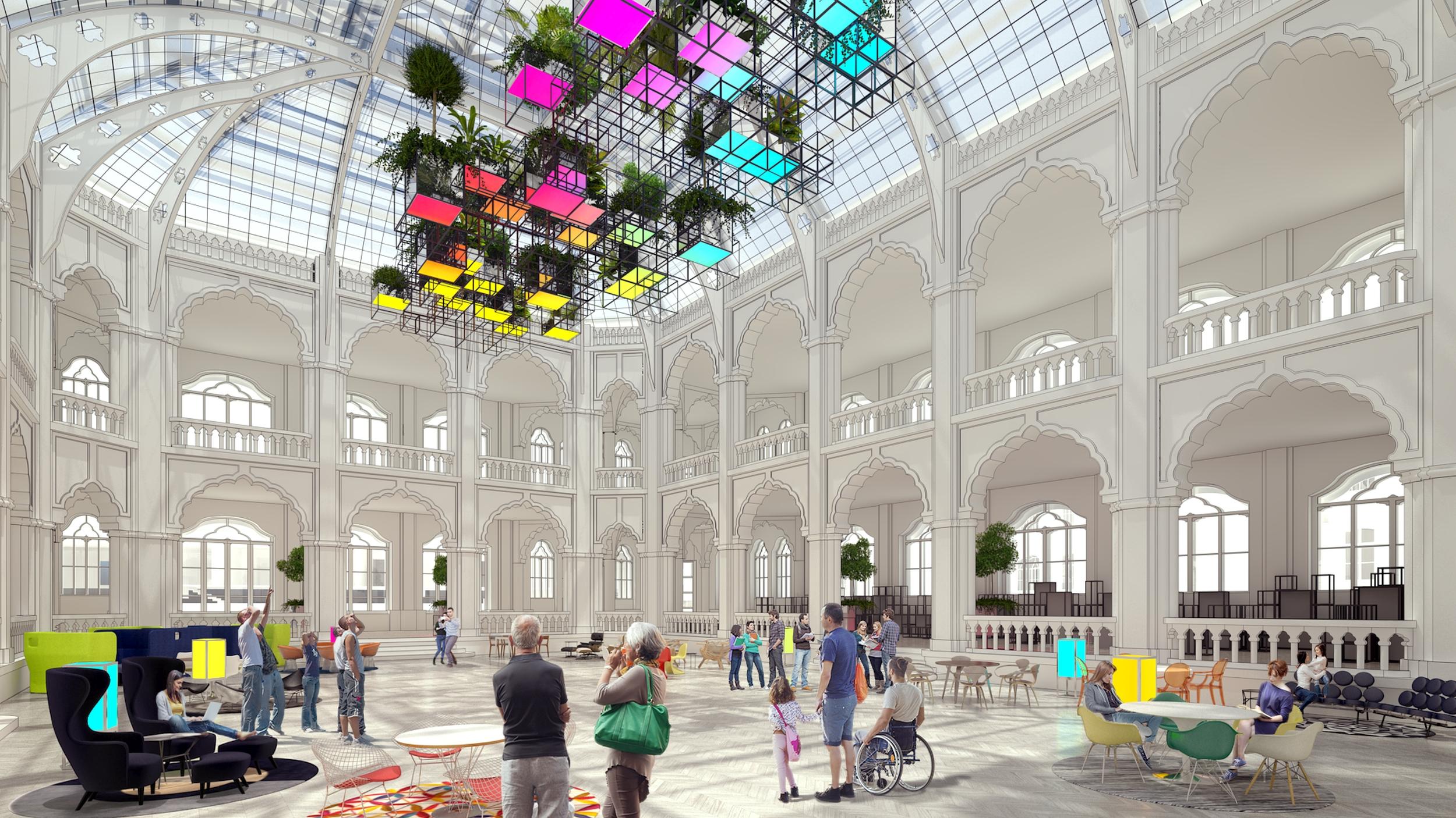 Az Iparművészeti Múzeum belsőépítészete | the inreior design of Museum of Applied Arts, Budapest